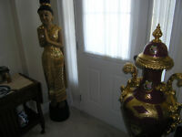 Solid wood thai statue/carving