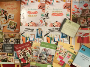 Stampin' Up catalogues and materials