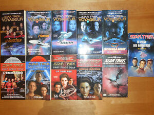 11 Livres STAR TREK excellente condition