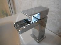 Waterfall mixer tap for basin or mini basin ,chrome, as new, clean and stylish