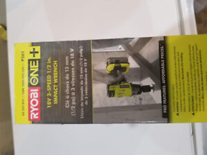Ryobi one plus 18v 3-Speed 1/2in Impact Wrench