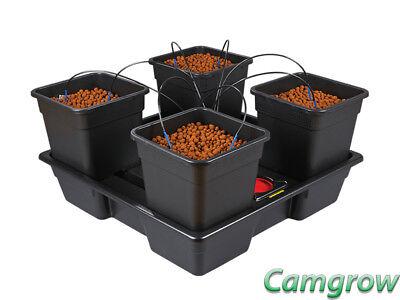 Pot Dripper-system (Wilma V2 - XL - 4 x 25 Litre Complete Pot Dripper System Hydroponics)