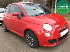 £137.14 PER MONTH RED 2014 FIAT 500 1.2 S 3 DOOR PETROL MANUAL