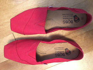 Red Bobs canvas shoes size 7