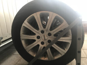 Set of 4 5x108 rims WITH all season tires