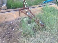 Home made blade to tow behind lawn tractor