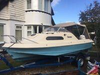 Shetland suntrip cabin cruiser fishing boat