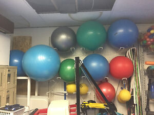 Yoga balls of different sizes