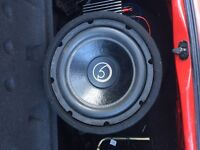 Subwoofer bass face and amp