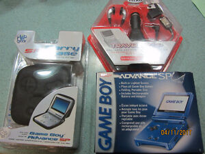 Cobalt (Blue) Game Boy Advance SP with Carry Case & Travel Kit