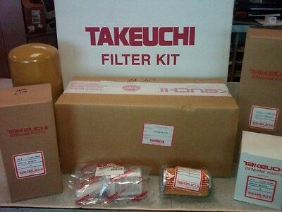 Takeuchi Tb175 - 250 Hour Filter Kit - Oem - 1909917501 Ser 17512105 And Up