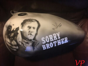Walking Dead Autographed Harley Davidson Gas Tank Don Scott
