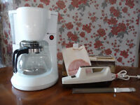 COFFEE MAKER / ELECTRIC KNIFE / HAND MIXER