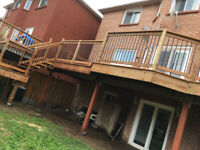 Fence and deck new or repair. Separate entrance for basement