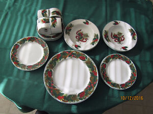 8 place setting Christmas Dishes.