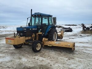 1997 New Holland 7740 SLE, Tiger Flail Mower