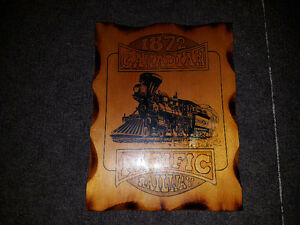 "Canadian Pacific Railway Wood Sign 9"" x 12"""