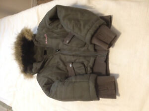 Child's Winter Bench Coat olive green