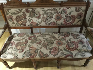 Arts and crafts antique settee