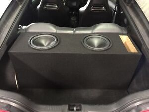 """Dual 10"""" precision power subs with ported box (new)"""