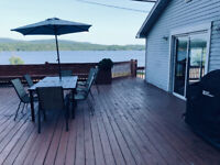 Lakefront with Fibre, Deck,  BBQ, Boat