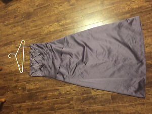 Purple satin prom/formal gown size 10