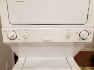Lightly used Electrolux One piece stacked washer and dryer