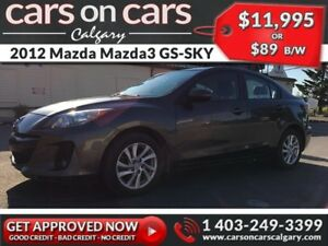 2012 Mazda Mazda3 GS-SKY w/Leather, Sunroof $89B/W INSTANT APPRO