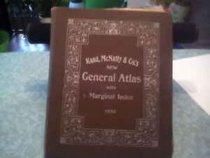 1896 Rand/ McNally & Cos general atlas
