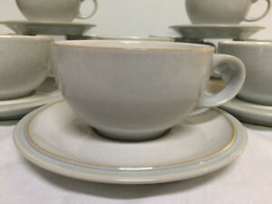 Denby cup/saucer in grey/white