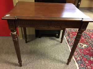 Solid mahogany Empire side table
