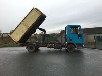IVECO 75e15 hook loader , tipper truck 1996 n