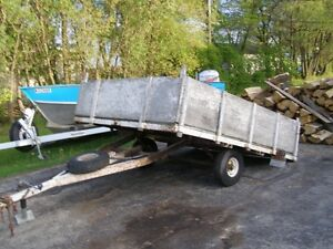 TRAILER; TILTING  UTILITY TRAILER; 74 IN BY 96 IN