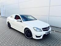 2011 61 reg Mercedes-Benz C63 AMG 6.3 7G-Tronic AMG Edition 125 Coupe + WHITE +