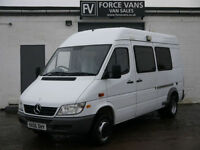 MERCEDES SPRINTER 413 MWB MESS MINIBUS CREW CAMPER MOTOX BAND DAY RACE VAN BUS