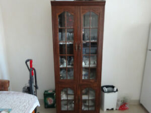 Cabinets with china and crystal included