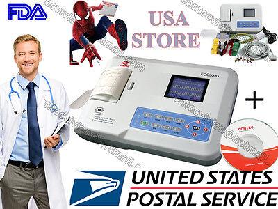 CONTEC ECG300G Digital 3-Channel 12-LEAD Electrocardiograph ECG machine +PC SW comprar usado  Enviando para Brazil