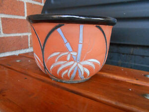 PALM TREE CERAMIC PLANT POT