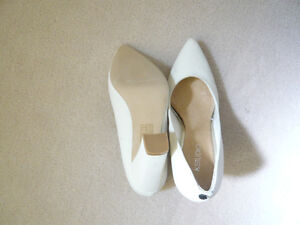New white high heel shoes