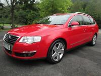 07/57 VOLKSWAGEN PASSAT 2.0 TDI SEL 170 BHP ESTATE IN RED WITH SERVICE HISTORY