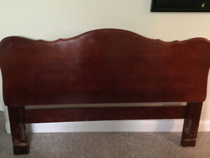 Gibbord queen headboard solid wood also has the metal frame.