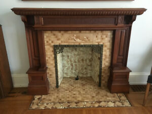 antique decorative fireplace mantle