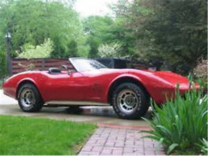 1975 corvette convertible L 82 A/C 4 SPEED low original miles