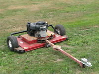 tow behind mower