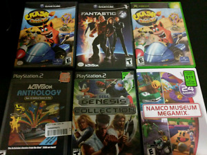GameCube. Xbox Wii. PS2. Games