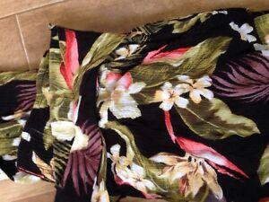 flowered billabong pants