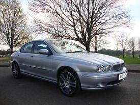 Jaguar X-TYPE 2.2D S 2008MY, Sat Nav, Full Black Leather, 84k FSH, Silver