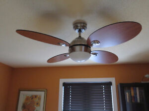 NOMA Scandinavian Fan with Light Fixture and Remote, 4-Blade, 42