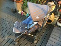 Maclaren Quest pram buggy stroller blue/gray. £20 o.n.o
