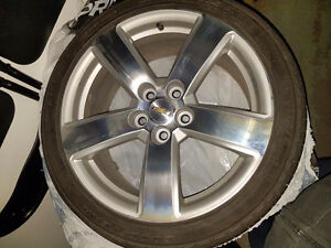 Set of 4 Tires and rims with pressure monitoring system Prince George British Columbia image 4